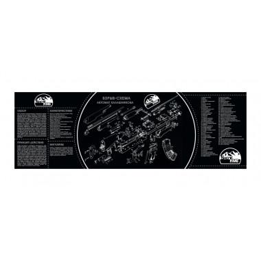 Коврик для чистки оружия ShotTime ST-MAT (90х30 см)