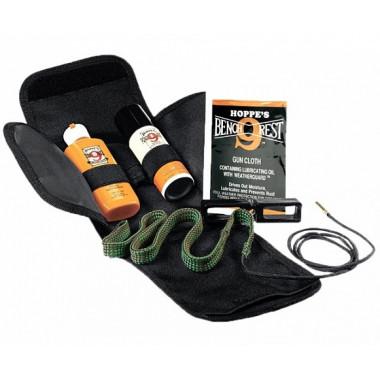 Набор для чистки оружия HOPPE'S с гибкой змейкой, маслом, растворителем (30 калибр)