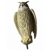 Чучело BIRDLAND 78505 (7850) филин большой с крыльями (серый)