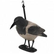 Чучело BIRDLAND 7341S ворона серая с лапами, на опоре