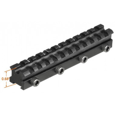 Кронштейн LEAPERS UTG MNT-DNT06 Weaver для призмы 9 - 11 мм с наклоном
