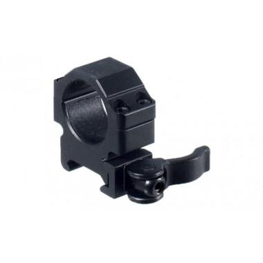 Кольца быстросъемные LEAPERS UTG RQ2W1104 25,4 мм на Picatinny с рычажным зажимом (низкие)