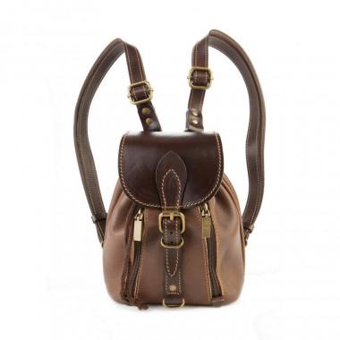 Кожаный рюкзак RELS Colibri Brown