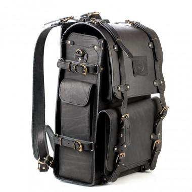 Кожаный рюкзак RELS Legion Black