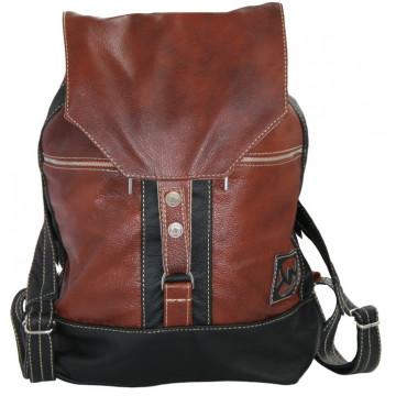 Кожаный рюкзак SofiTone RM 002 Dark red-Black