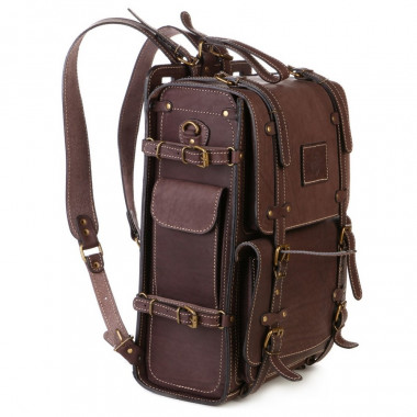Кожаный рюкзак RELS Legion Brown