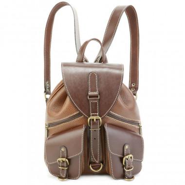 Кожаный рюкзак RELS Pilot Brown