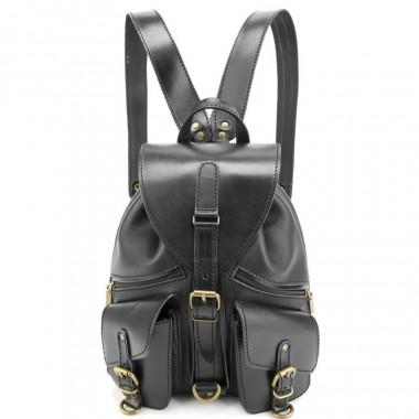 Кожаный рюкзак RELS Pilot Black