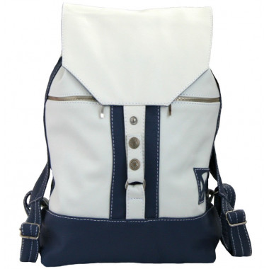 Кожаный рюкзак SofiTone RM 002 Белый - Синий