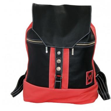 Кожаный рюкзак SofiTone RM 002 Black-Red