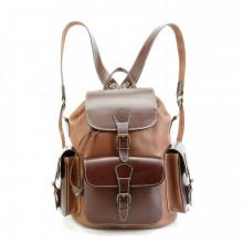 Кожаный рюкзак RELS Classic Three Brown