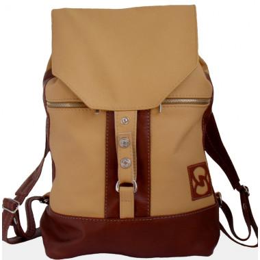 Кожаный рюкзак SofiTone RM 002 Cream-Orang