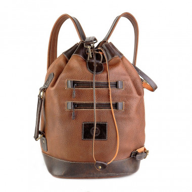 Кожаный рюкзак RELS Striker Brown