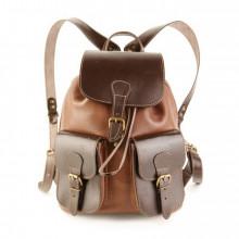 Кожаный рюкзак RELS Classic Two Brown