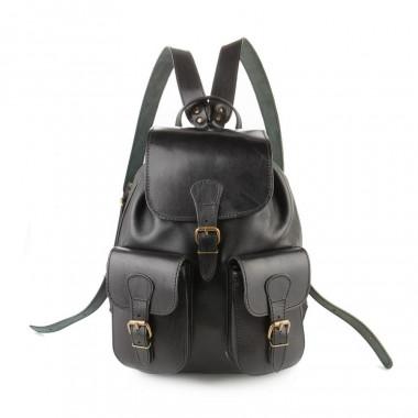 Кожаный рюкзак RELS Classic Two Black
