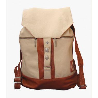 Кожаный рюкзак SofiTone RM 002 Молочный - Светло-рыжий