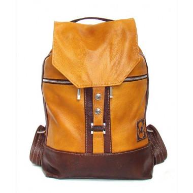 Кожаный рюкзак SofiTone RM 002 Тёмный песочный - Коричневый