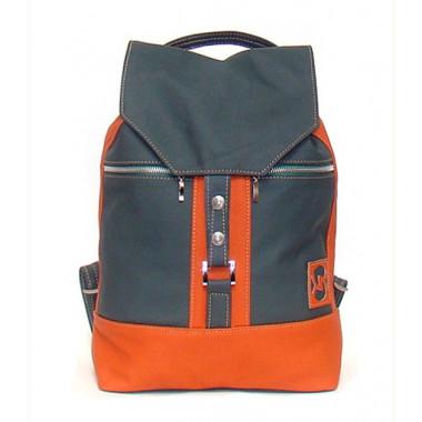 Кожаный рюкзак SofiTone RM 002 Зелёный - Терракот