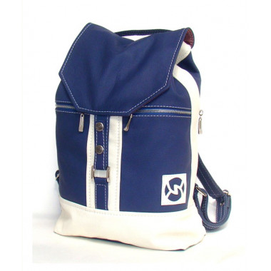 Кожаный рюкзак SofiTone RM002 Синий - Белый