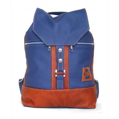 Кожаный рюкзак SofiTone RM 002 Синий - Светлый рыжий