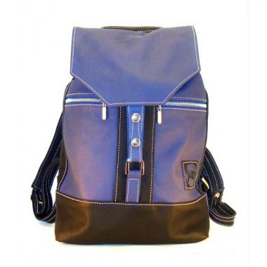 Кожаный рюкзак SofiTone RM 002 Синий - Чёрный