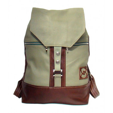 Кожаный рюкзак SofiTone RM 002 Оливковый - Коричневый