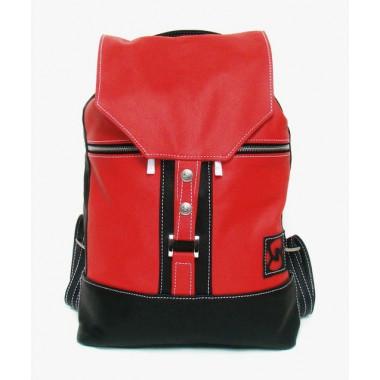 Кожаный рюкзак SofiTone RM 002 Красный - Чёрный
