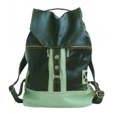 Кожаный рюкзак SofiTone RM002 Зелёный - Салатовый
