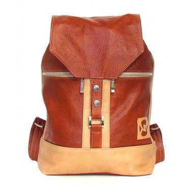 Кожаный рюкзак SofiTone RM002 Светлый рыжий - Бежевый