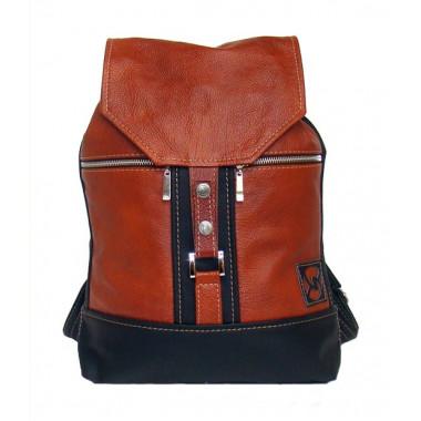 Кожаный рюкзак SofiTone RM 002 Светло рыжий - Чёрный